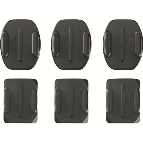 GO PRO 3 CURVED ADHESIVE MOUNTS + 3 FLAT