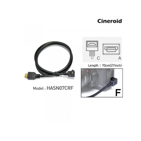 CINEROID CABLE HDMI-MINI COUDE 70CM CRF