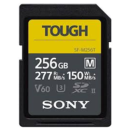 SONY CARTE UHSII SDXC M TOUGH 256GB R277W150