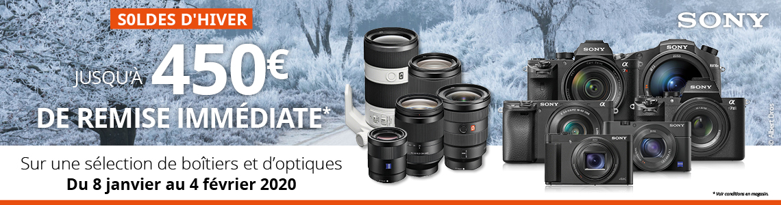 SONY SOLDES D'HIVER 2020